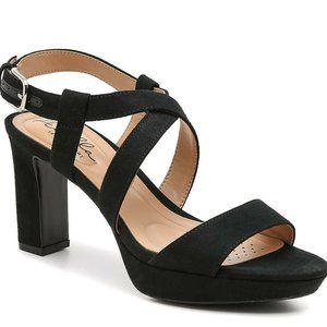 Abella Lapis Platform Sandal Womens Black Buckle